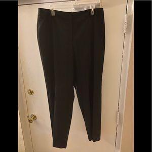 Anne Klein Black Pinstripe Pants Size 16w